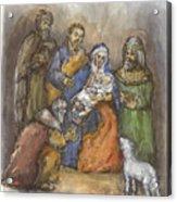 Nativity Acrylic Print by Walter Lynn Mosley