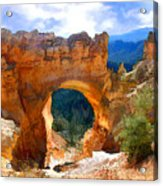 Natural Bridge Arch In Bryce Canyon National Park Acrylic Print
