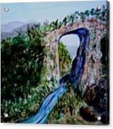 Natural Bridge In Virginia Acrylic Print