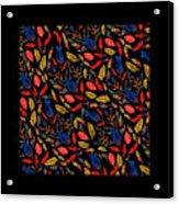 Natural Floral Pattern Acrylic Print