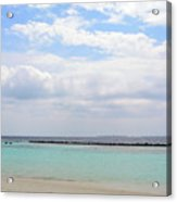 Natural Landscape With The Ocean From An Island In Maldives Acrylic Print
