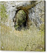Natural Limestone Arch At Dove Valley Acrylic Print