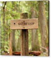 Nature Loop Sign Acrylic Print