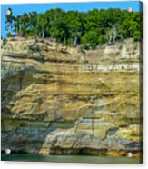 Nature Made- Indian Head Pictured Rocks Acrylic Print