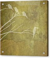Nature Study In Gold  Acrylic Print