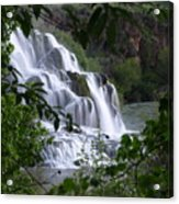Nature's Framed Waterfall Acrylic Print