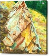 Nature's Granite Sculpture Acrylic Print