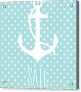 Nautical Anchor Acrylic Print
