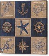 Nautical Burlap Acrylic Print