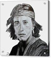 Navajo Brave Acrylic Print