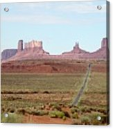 Navajo Flag At Monument Valley Acrylic Print