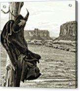 Navajo Saddle Acrylic Print