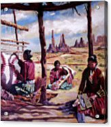 Navajo Weavers Acrylic Print