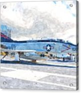 Navy Aircraft Acrylic Print