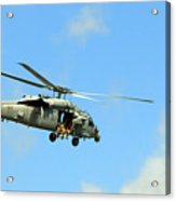 Navy Helicopter Acrylic Print