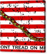 Navy Jack Flag - Don't Tread On Me Acrylic Print
