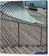 Navy Pier Stairs Acrylic Print