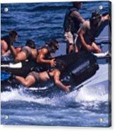 Navy Seals Practice High Speed Boat Acrylic Print