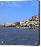 Naxos Greece Harbor Acrylic Print
