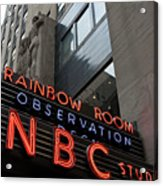 Nbc Studio Rainbow Room Sign Acrylic Print