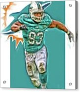 Ndamukong Suh Miami Dolphins Oil Art Acrylic Print