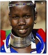 Ndebele Maiden Acrylic Print