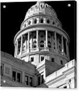 Near Infrared Image Of The Texas State Capitol Acrylic Print