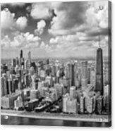 Near North Side And Gold Coast Black And White Acrylic Print