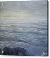 Near The Shoreline At Dusk Acrylic Print