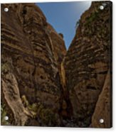 Nearing The Slot Canyon - Tent Rocks Acrylic Print