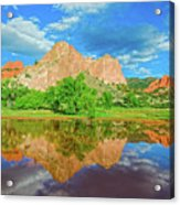 Nearly 2 Million People Rollick In This World-famous City Park Every Year.  Acrylic Print
