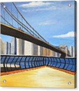Neath The Brooklyn Bridge Acrylic Print