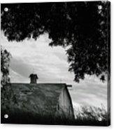 Nebraska - Barn - Black And White Acrylic Print
