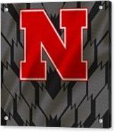 Nebraska Cornhuskers Uniform Acrylic Print