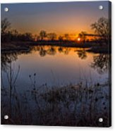 Nebraska Sunset Acrylic Print