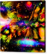 Nebula Collision Course Acrylic Print