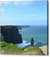 Needle Rock Formation With Blue Skies On The Cliff's Of Moher Acrylic Print