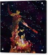 Negan Triumph And Stars Acrylic Print
