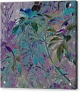Negative Jungle Acrylic Print
