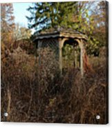 Neglected Old Gazebo Acrylic Print