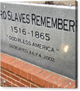 Negro Slaves Remembered Acrylic Print by Warren Thompson