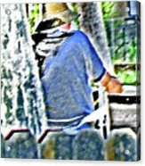 Neighborhood Gardener 2 Acrylic Print