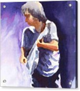 Neil Young With Gretsch White Falcon Acrylic Print