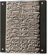 Neo-babylonian Clay Tablet Acrylic Print