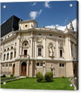 Neo Renaissance Architecture Of The Slovenian National Opera And Acrylic Print