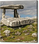 Neolithic Teleport - Portal Tomb In The Burren Acrylic Print