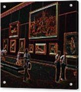 Neon Art Gallery At Louvre Acrylic Print