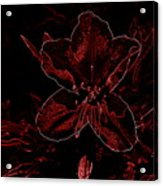 Neon Bloom Acrylic Print