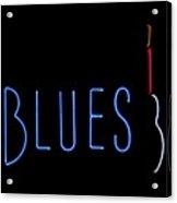 Neon Blues Acrylic Print