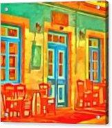 neon Cafe Acrylic Print